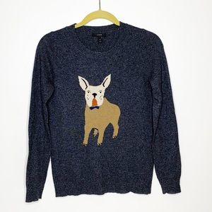 J Crew wool blend lightweight dog sweater
